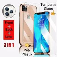 1 Set Tempered Glass Depan Belakang camera Iphone 11 screen guard