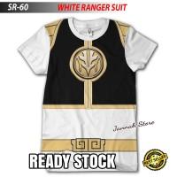 Baju Kaos POWER RANGERS WHITE SUIT