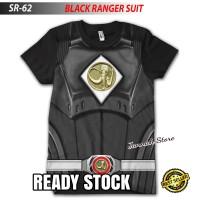 Baju Kaos POWER RANGERS BLACK SUIT