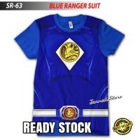 Baju Kaos POWER RANGER BLUE SUIT