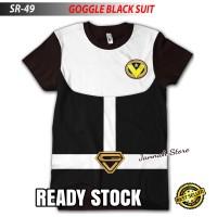 Baju Kaos POWER RANGERS GOGGLE BLACK SUIT