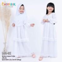 (2-7 tahun) MA 32 Baju Muslim Gamis Anak Cutetrik Manasik Haji Putih