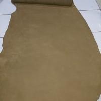 Bahan kulit Sapi Lembaran Nubuck Ukuran 20cm x 30cm