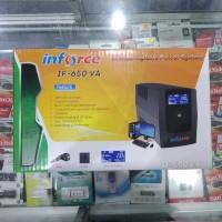 UPS Inforce 650VA Dilengkapi AVR & LCD Display IF 650 VA