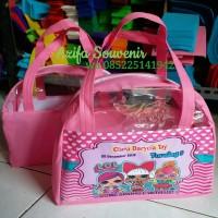 Tas Ultah / Goodie Bag Souvenir Ulang Tahun Busur Printing Full Color