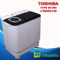 Mesin Cuci 2 Tabung Toshiba VH-H95MN 9 KG Low Watt Cuci dan Kering