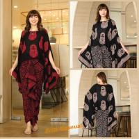 Setelan kebaya batik modern atasan dan rok panjang rempel - boneka