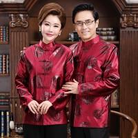 Cheongsam Pasangan Baju Kemeja Kostum Imlek Congsam Baju Sepasang