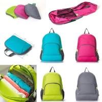 Tas Ransel Lipat Tas Punggung Foldable Backpack / Tas Ransel Serbaguna - pink motif army