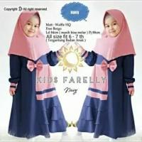 Farelly Kids Baju Muslim Gamis Anak Perempuan Usia 2-3-4 tahun
