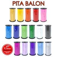 🎈 Pita Balon Rol 5mm x 100 Ribbon Balloon Roll Tali Dekorasi Pesta