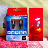 Autovision Microzen LED T10 W5W 4.5W Canbus Merah Red Lampu Senja Kota