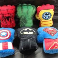 mainan anak bantal boxing gloves sarung tangan tinju msk tgn superhero