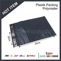 plastik packing 28x42 cm hitam / plastik OLSHOP