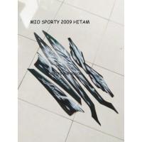Striping Lis Stiker Motor Yamaha Mio Sporty 2009 Hitam