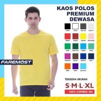 faremost-kaos polos pria lengan pendek cotton combed 30s