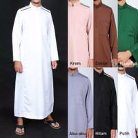 Gamis Pria / Jubah Trendy / Baju Muslim laki laki Resleting