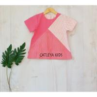 Baju atasan batik anak perempuan Alamanda series pink motif bata