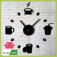 Jam Dinding Besar QUARTZ 40 - 70 cm Coffee Design 1