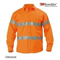 Baju Wearpack Kerja Safety Proyek Tambang K3 Biru Navy Orange Hifiz 3M
