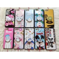 Case Hp Karakter BARE BEARS,DORAEMON,CAT,MICKEY + POPSOCKET