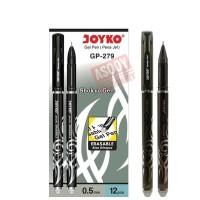 pulpen gel bisa di hapus GP 279/warna hitam/0.5 mm/ Joyko