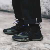 Sepatu Nike huarache gripp black olive Pria sneakers shoes hitam hijau