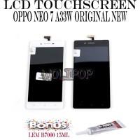 BONUS LEM B7000 LCD TOUCHSCREEN OPPO NEO 7 A33 A33W ORIGINAL NEW