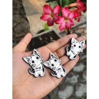 Sz S Liontin / bandul / nametag AJA anjing kucing custom request murah