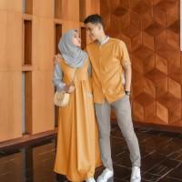 Baju Cauple Muslim Pasangan Pria dan Wanita Adora MC