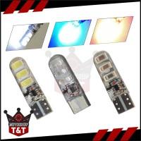 Lampu LED Sein Kota Spidometer 6 Mata Jelly Flash Firstbiker - Flash, Putih