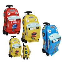 NEW Tas Anak Sekolah Trolley PAUT Bus TAYO Bahan Kain Sponge Anti Air - Kuning