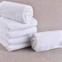 Handuk GRADE A sport muka kecil simple tebal travel towel lap putih