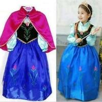 Baju dress anak kostum costume princess anna frozen jubah merah