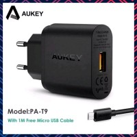SALE AUKEY PA T9 QUICK CHARGE 3 0 USB SINGLE PORT WALL CHARGER