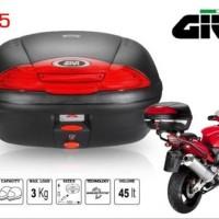 Box Givi E45 N tanpa lampu . Box motor Givi E45 Non Stop Light