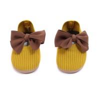 MOEJOE Bow Espadrilles Shoes / Sepatu Anak Perempuan / Flat Shoes Anak - Cokelat, 26