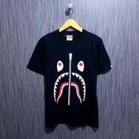 Kaos/Baju/Tshirt Bape A Bathing ape shark WGM premium hitam