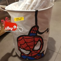Miniso Spiderman Cute Laundry Bag Keranjang Baju Kotor