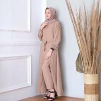 baju gamis wanita muslim terbaru / long dress tania set maxi termurah