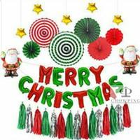Paket Dekorasi Balon Foil Natal / Merry Christmas - Set D