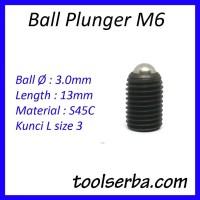 Ball Plunger M6 x 13 Kunci L Stopper Catcher Baut Baja Headless Screw