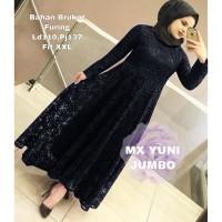 MAXI YUNI JUMBO XXL HITAM [Gamis 0121] SKZ Baju Gamis Wanita Terbaru