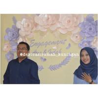 paper flower backdrop set 5 dekorasi lamaran