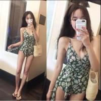 Baju Renang Wanita Dewasa Model Bunga Bunga Retro Seksi Bikini M-XL