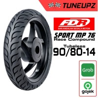 FDR 90/80-14 SPORT MP 76 TUBELES SOFT COMPOUND BAN ROAD RACE MATIC