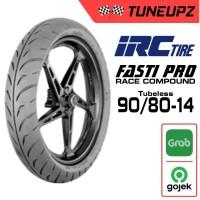 IRC 90/80-14 FASTI PRO TUBELES SOFT COMPOUND BAN LUAR ROAD RACE MATIC