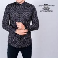Baju Kemeja Formal Batik Songket Hitam Cowok Kemeja Kantor