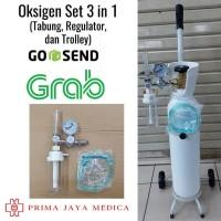 Tabung Oksigen Set 3 in 1 Siap Pakai (Tabung, Regulator dan Troller)