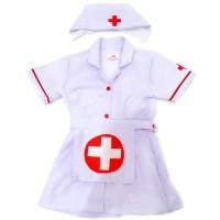 Baju profesi perawat anak ukuran SD - Kostum perawat anak ukuran SD - L